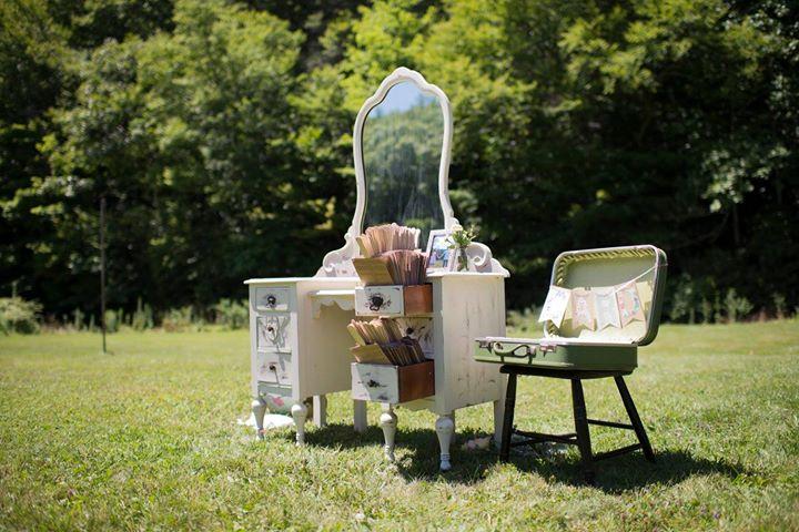Vanity, Chair, & Suitcase