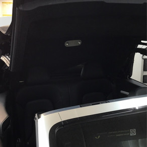 Custom suade headliner in a Audi A5 convertible. Foss Audio in Puyallup