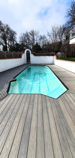 Composite swimming pool deck
