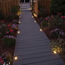 Lighting a deck in your garden with LED deck lights is a great idea