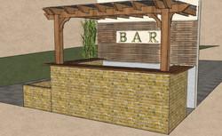 Outside covered bar