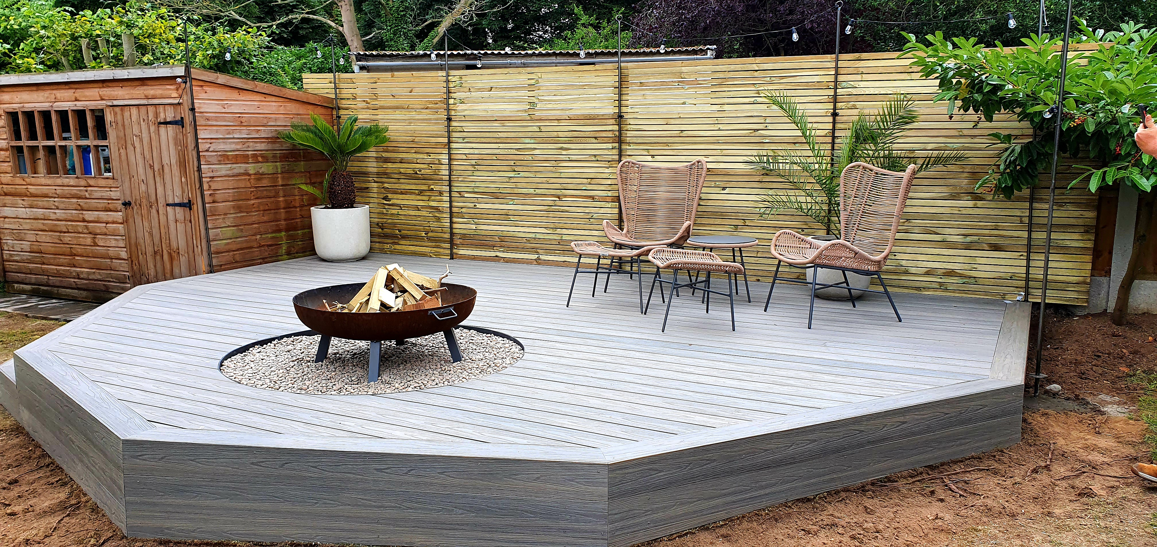Grey composite decking Essex
