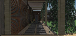 Oak walkway