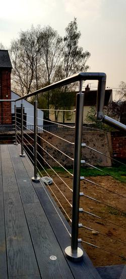 Marine wires handrail