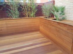 Custom built planters
