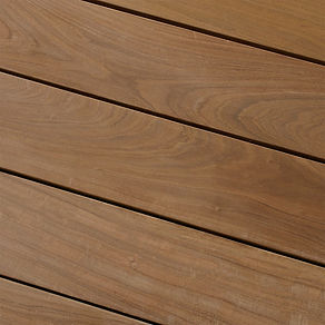 Ipe decking can be oiled to enhance its natural beauty