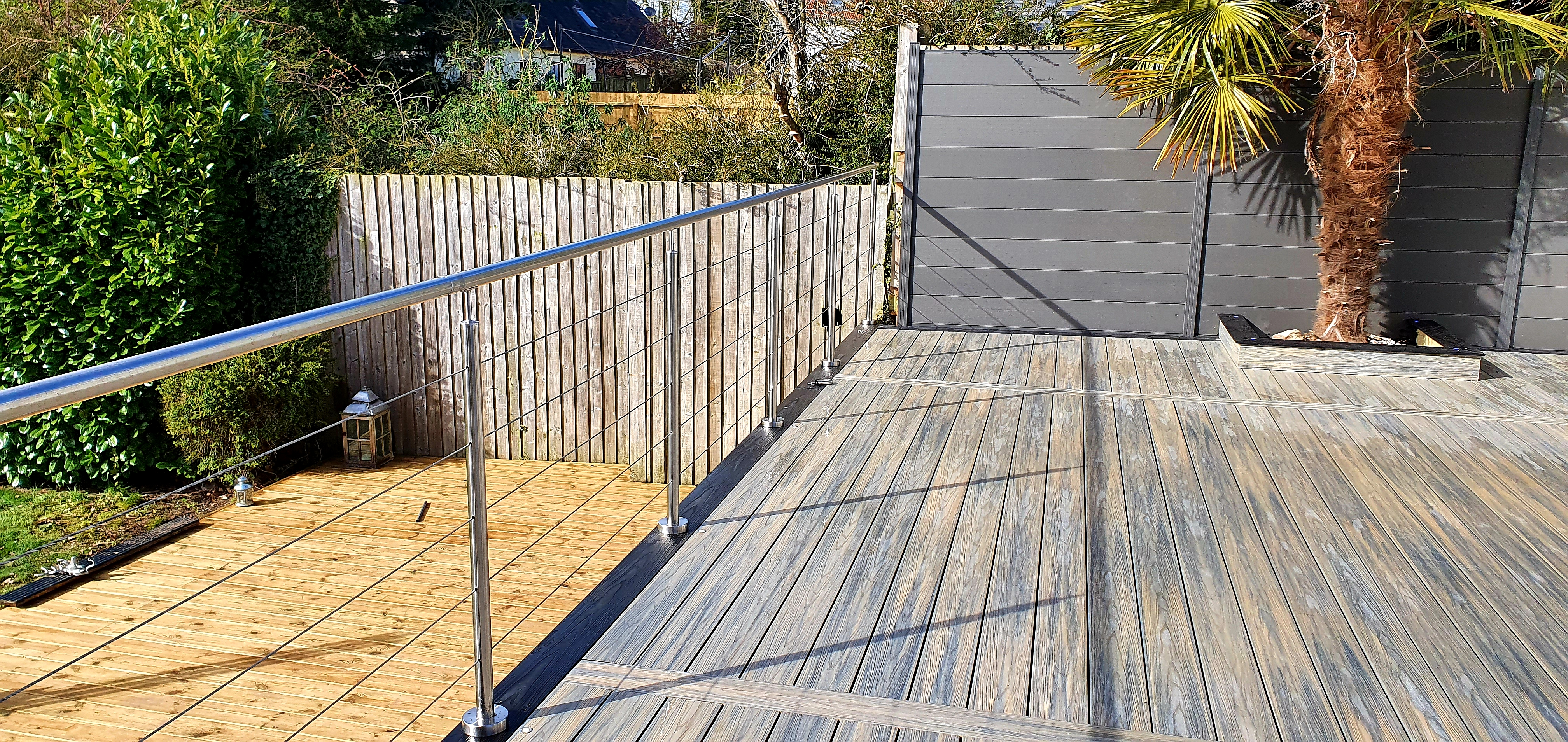 Composite Prime Grey Decking in Dunmow Essex
