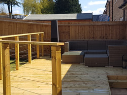 Softwood timber deck witham