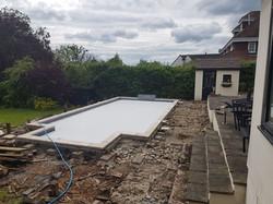 Swimming Pool Deck site Loughton