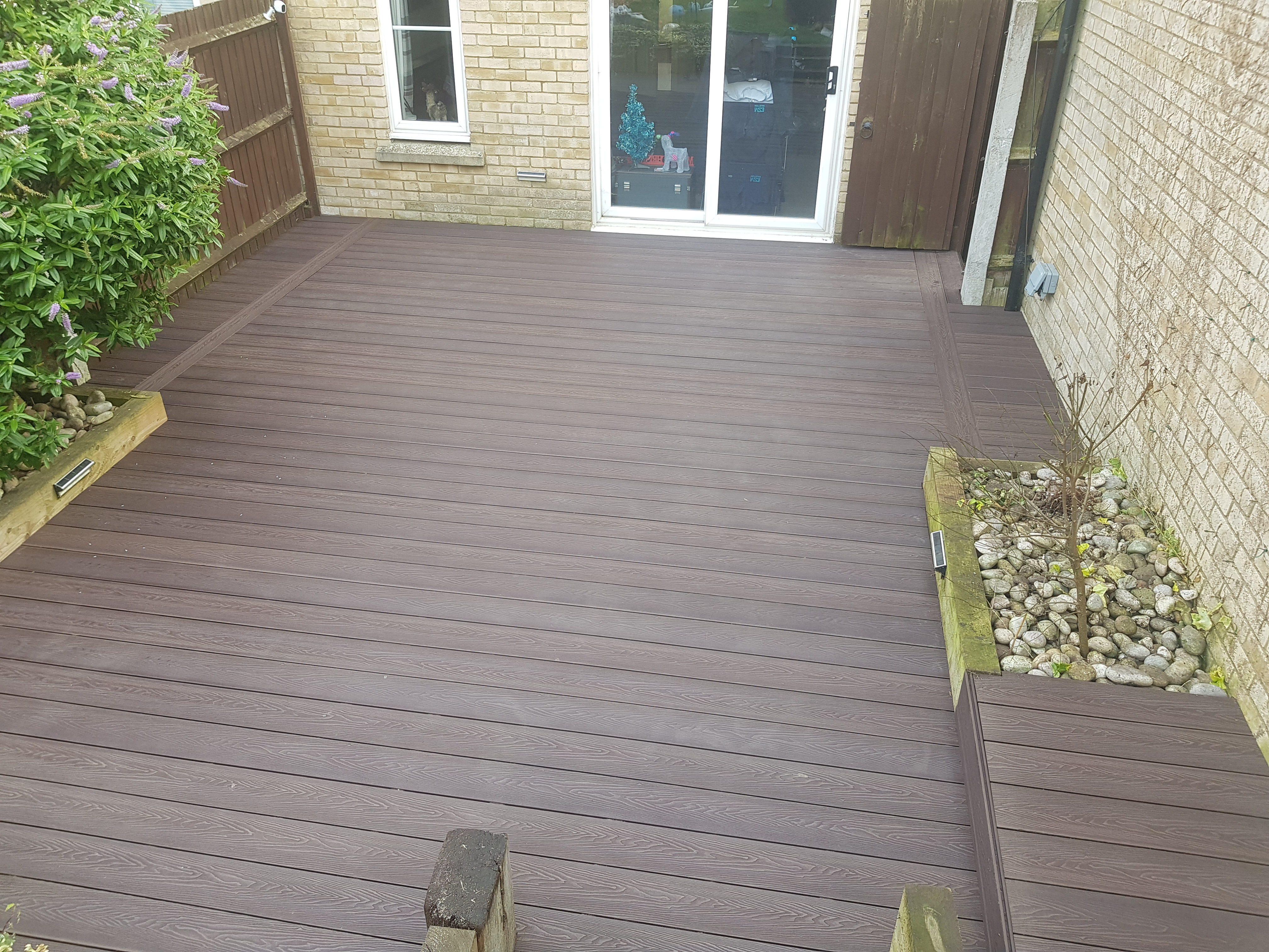 Brown composite deck Felsted