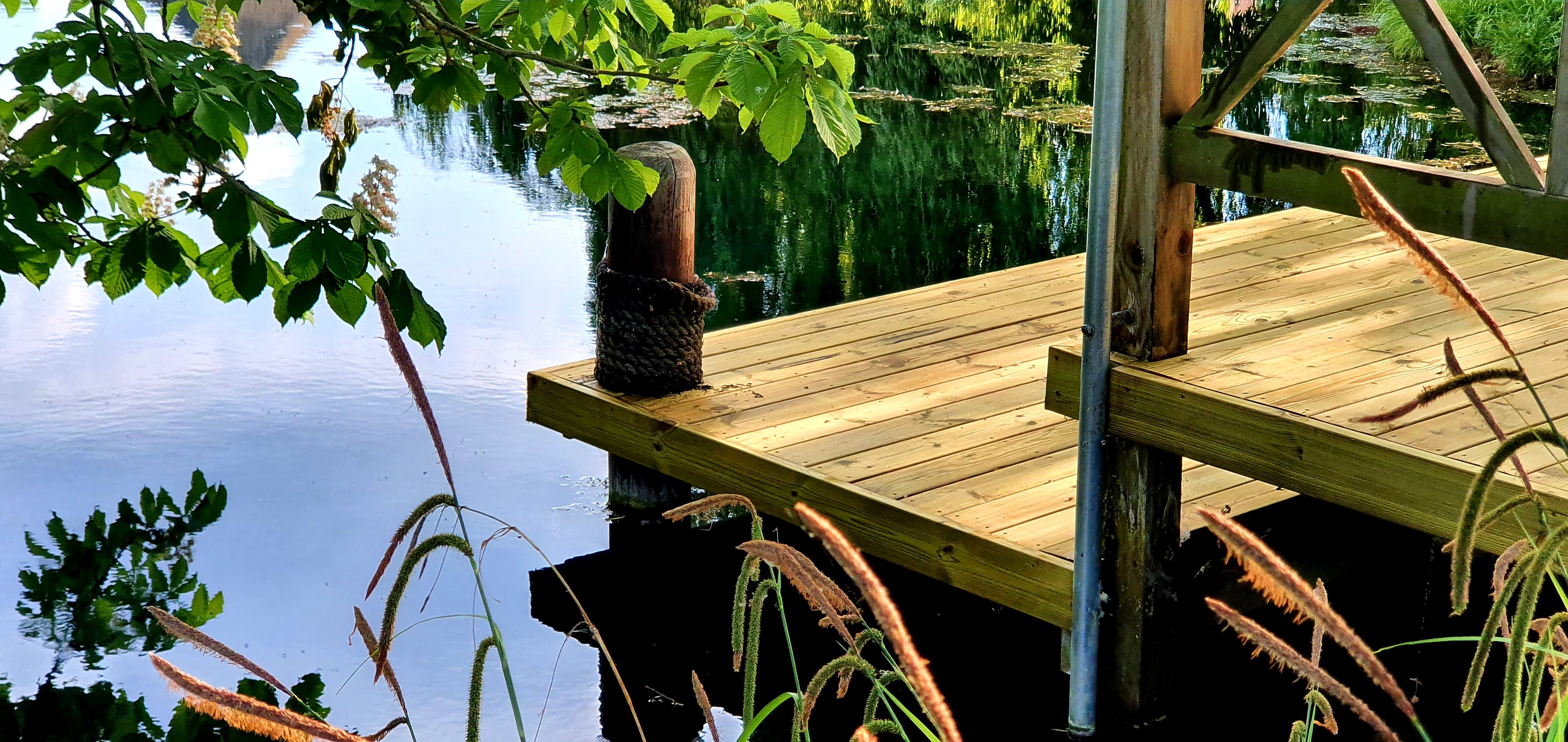 Decking at Colne Priory Essex Lake