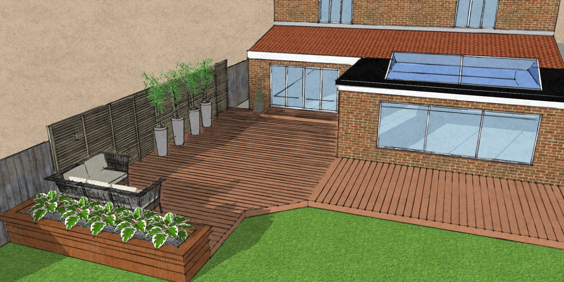 Design for composite deck