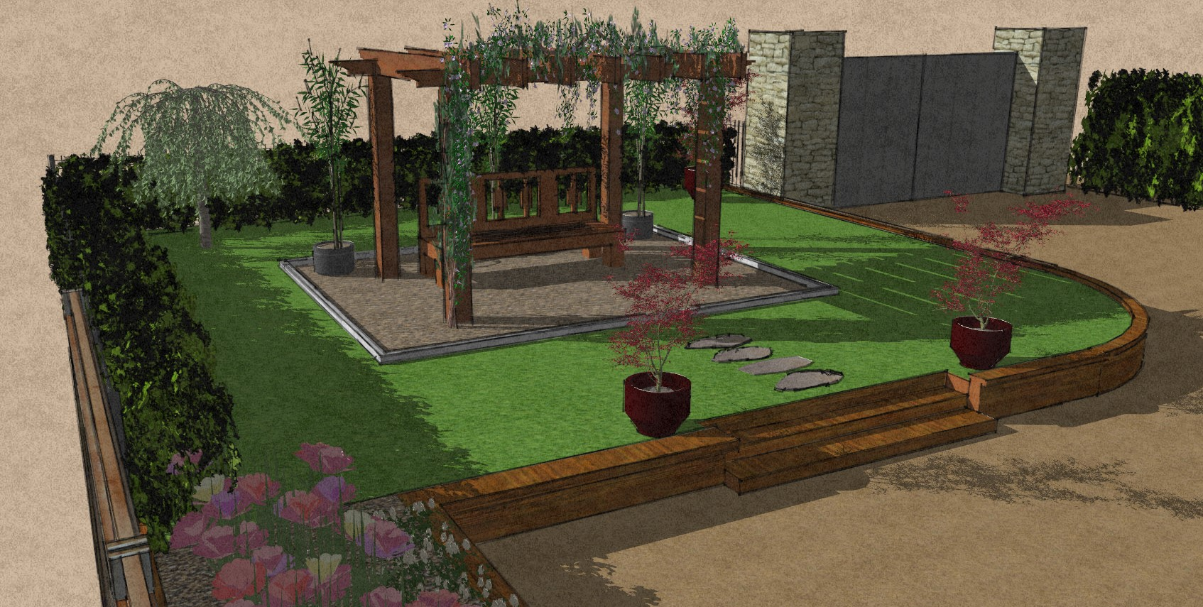 Pergola design Hatfield Heath