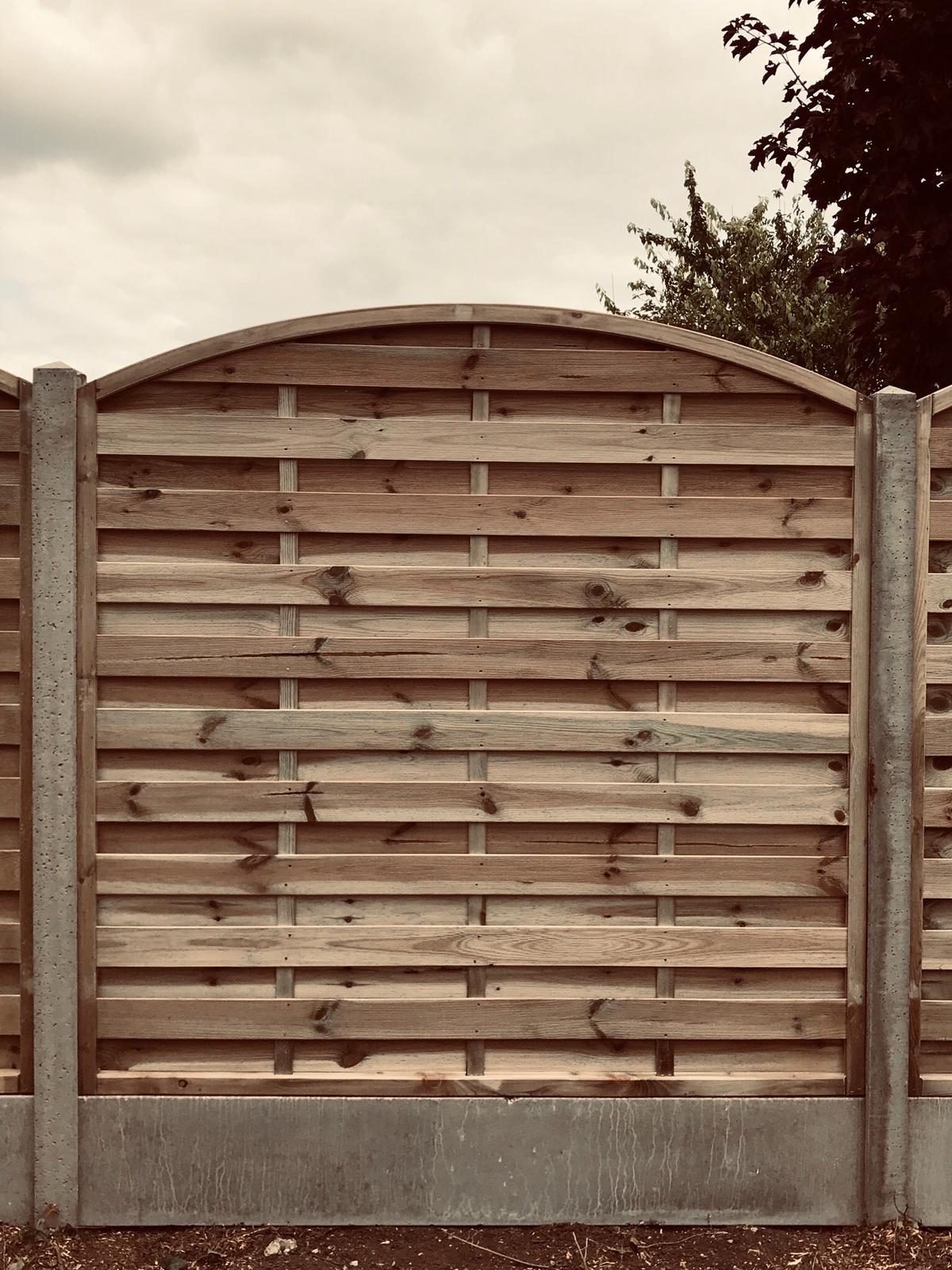 Omega style fence panel
