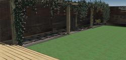 Oak walkway side