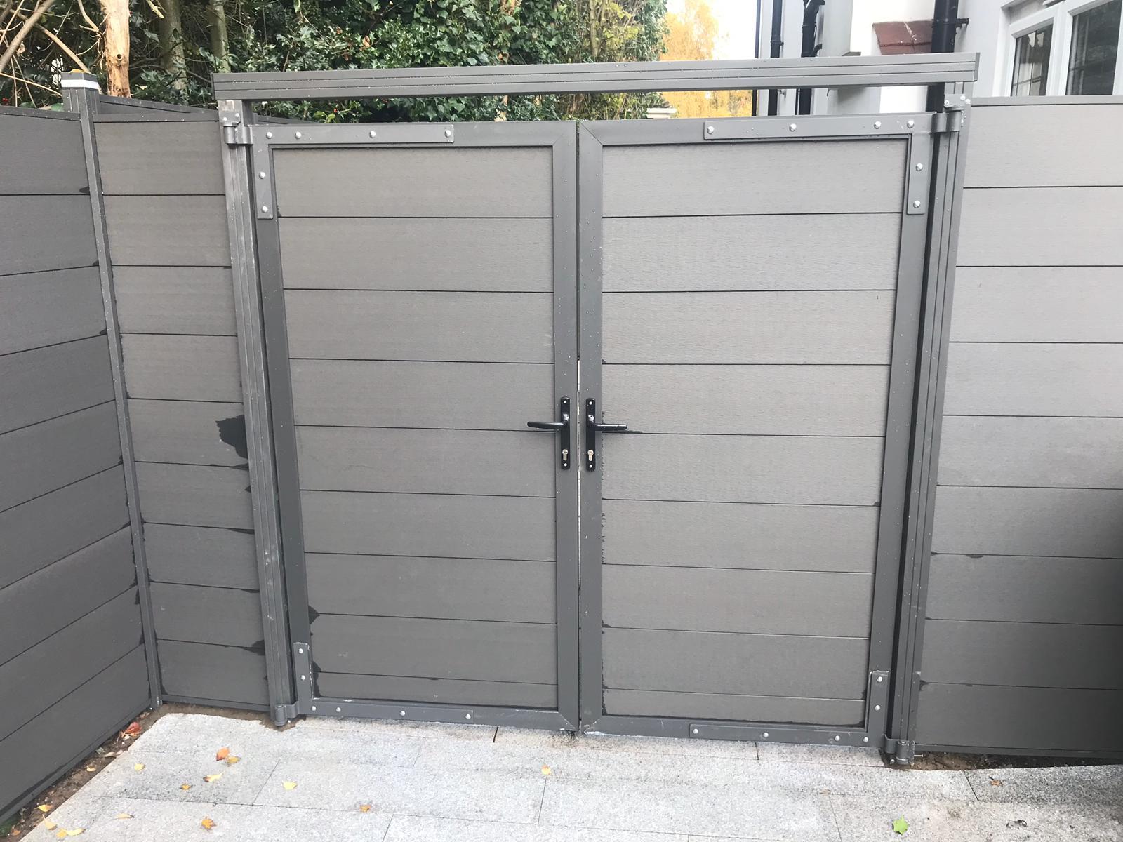 Composite metal framed gates
