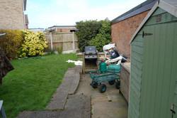 Garden makeover before
