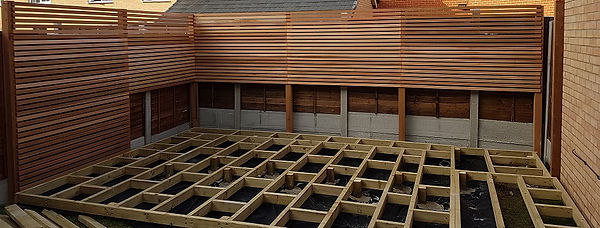 Essex decking and fencing will build a solid deck with a solid sub frame using building grade materials.