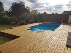 Loughton pool deck after