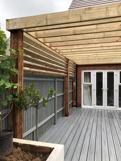 Timber pergola Takeley