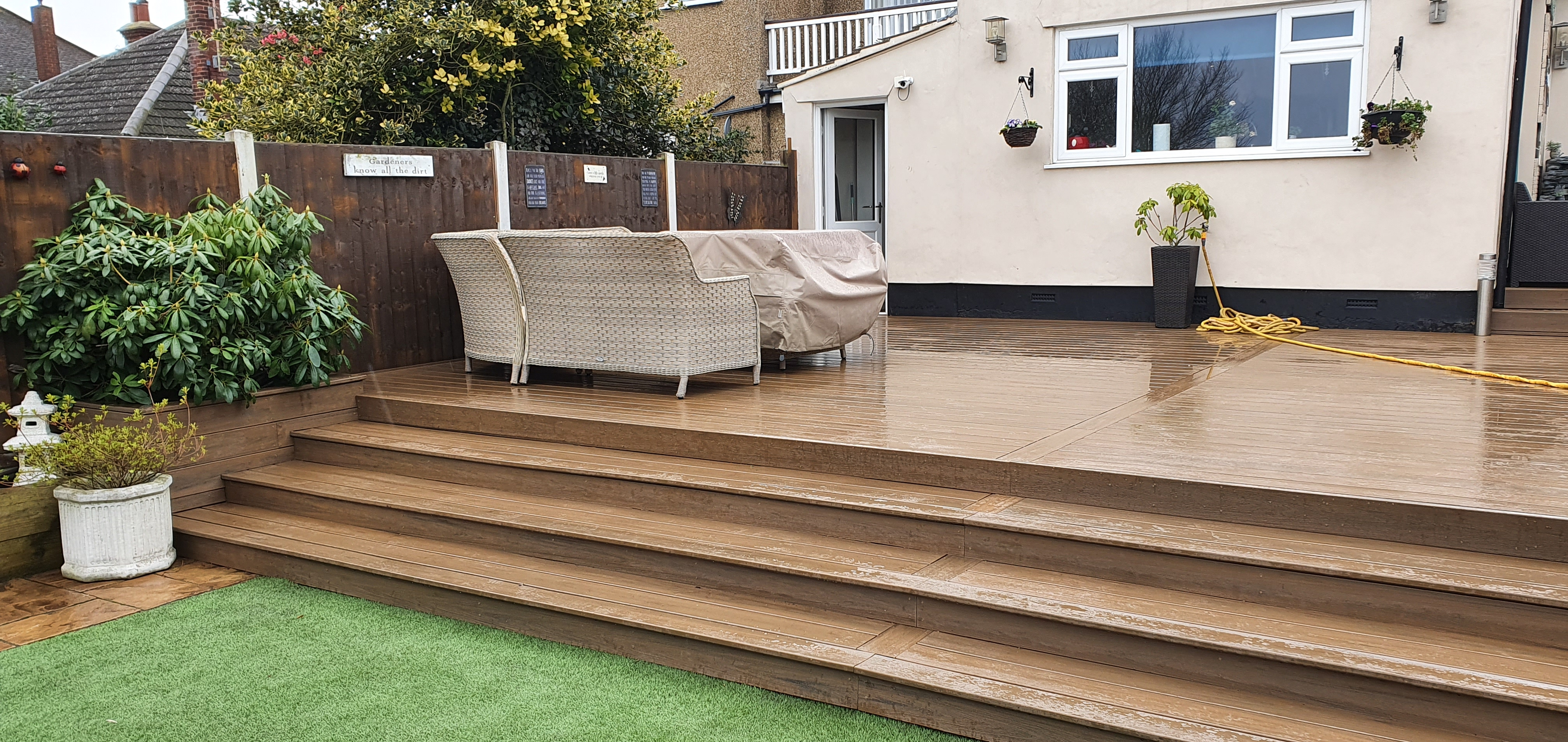 Trex Tiki Torch Decking in Basildon