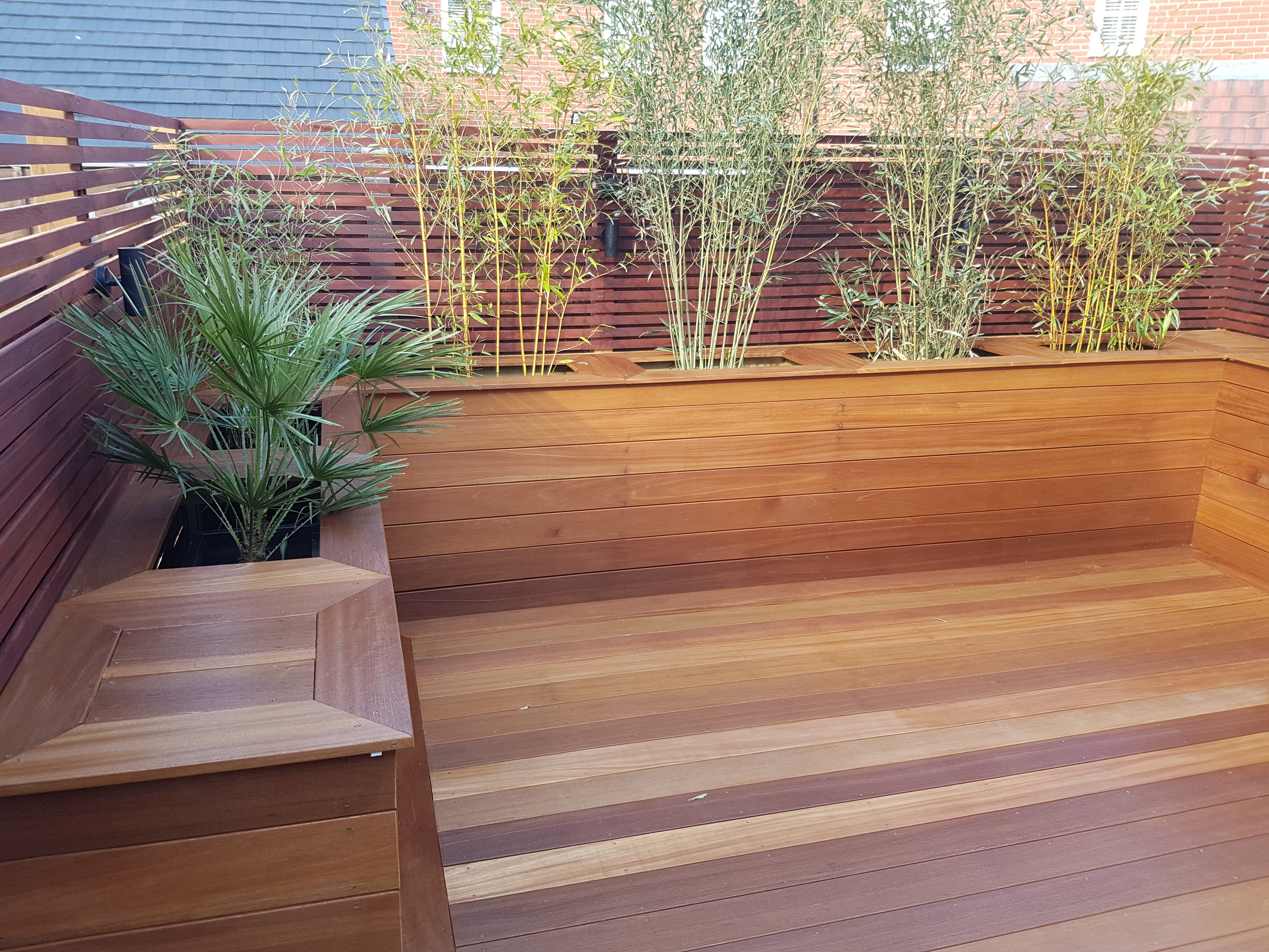 Deck and planters