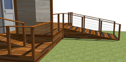 Decking with wheelchair access