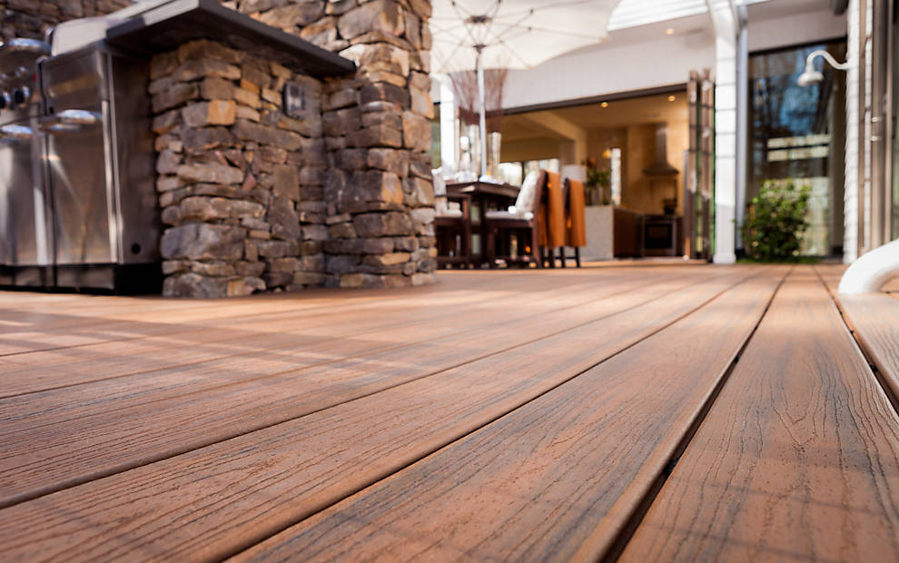 Trex Transcend Decking - Spiced Rum