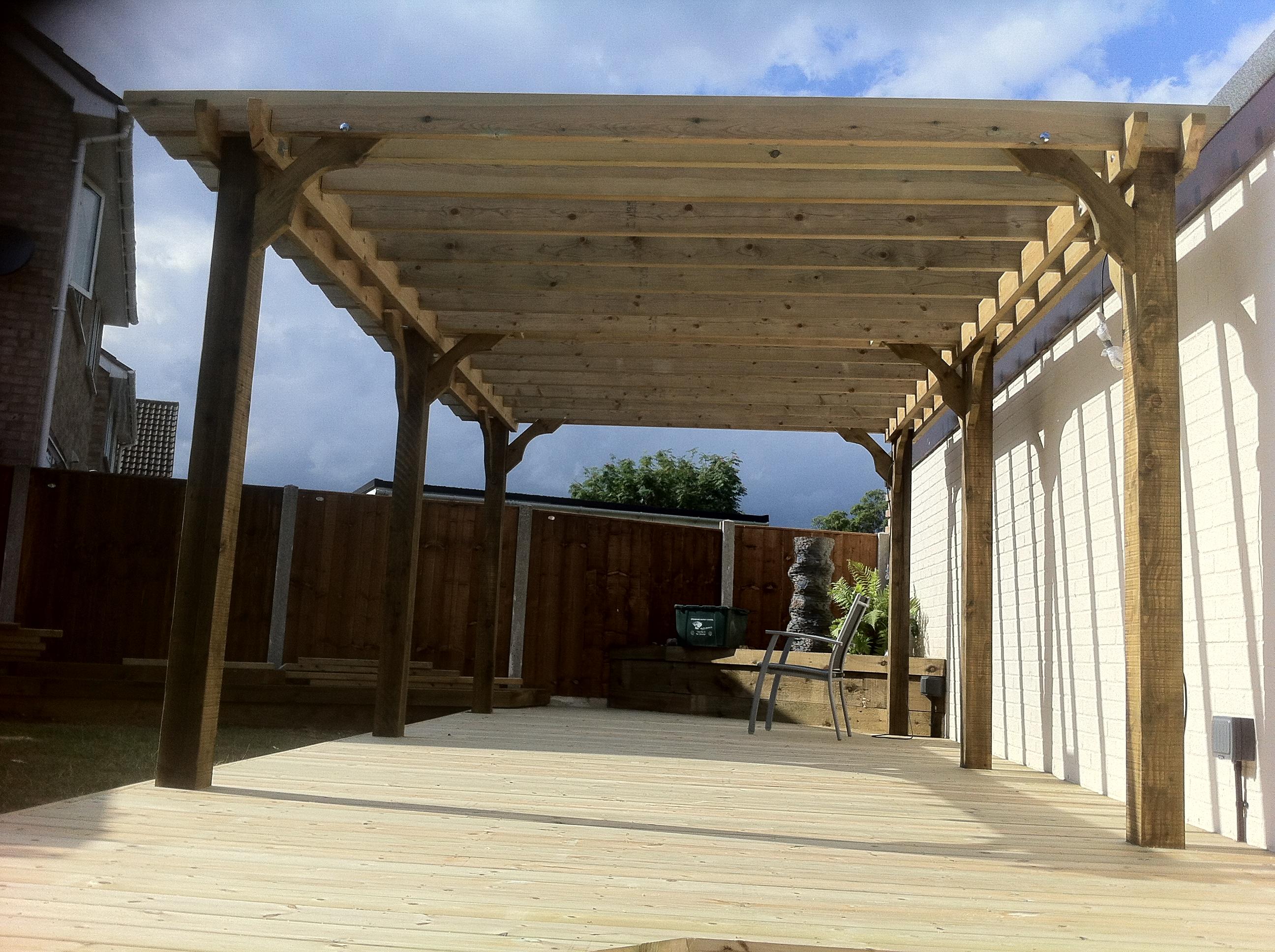 Softwood deck and pergola