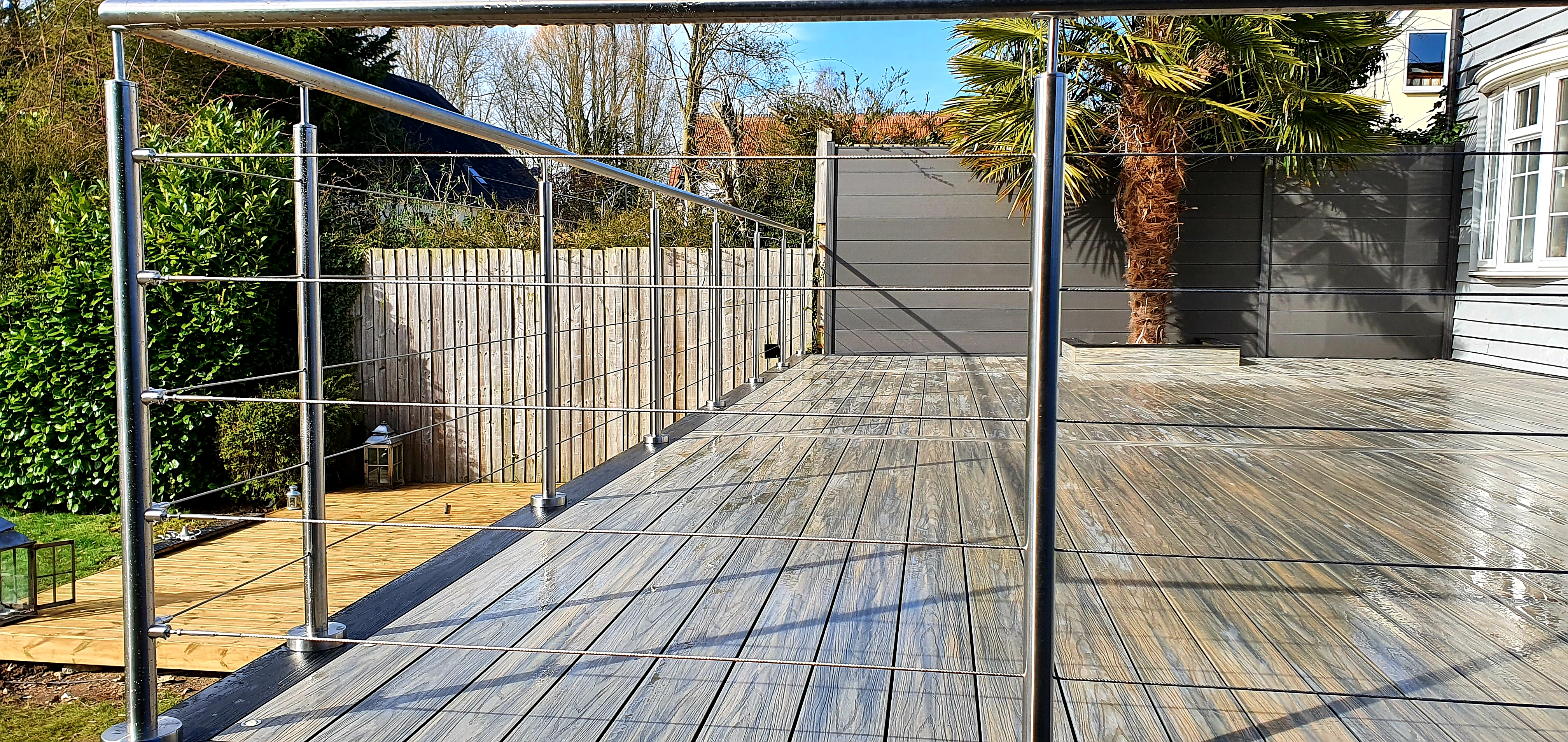 Grey Composite decking in Essex