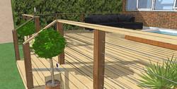 Timber decking Debden