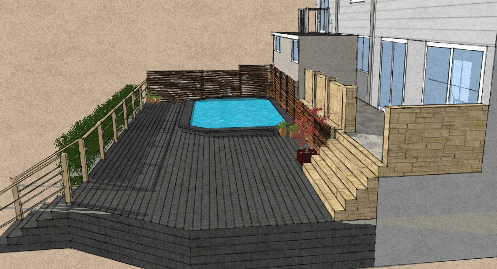 Swimming pool deck Essex