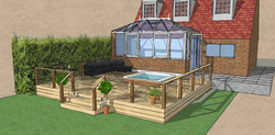 Conservatory deck Debden