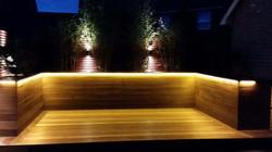 Hardwood deck LED lit