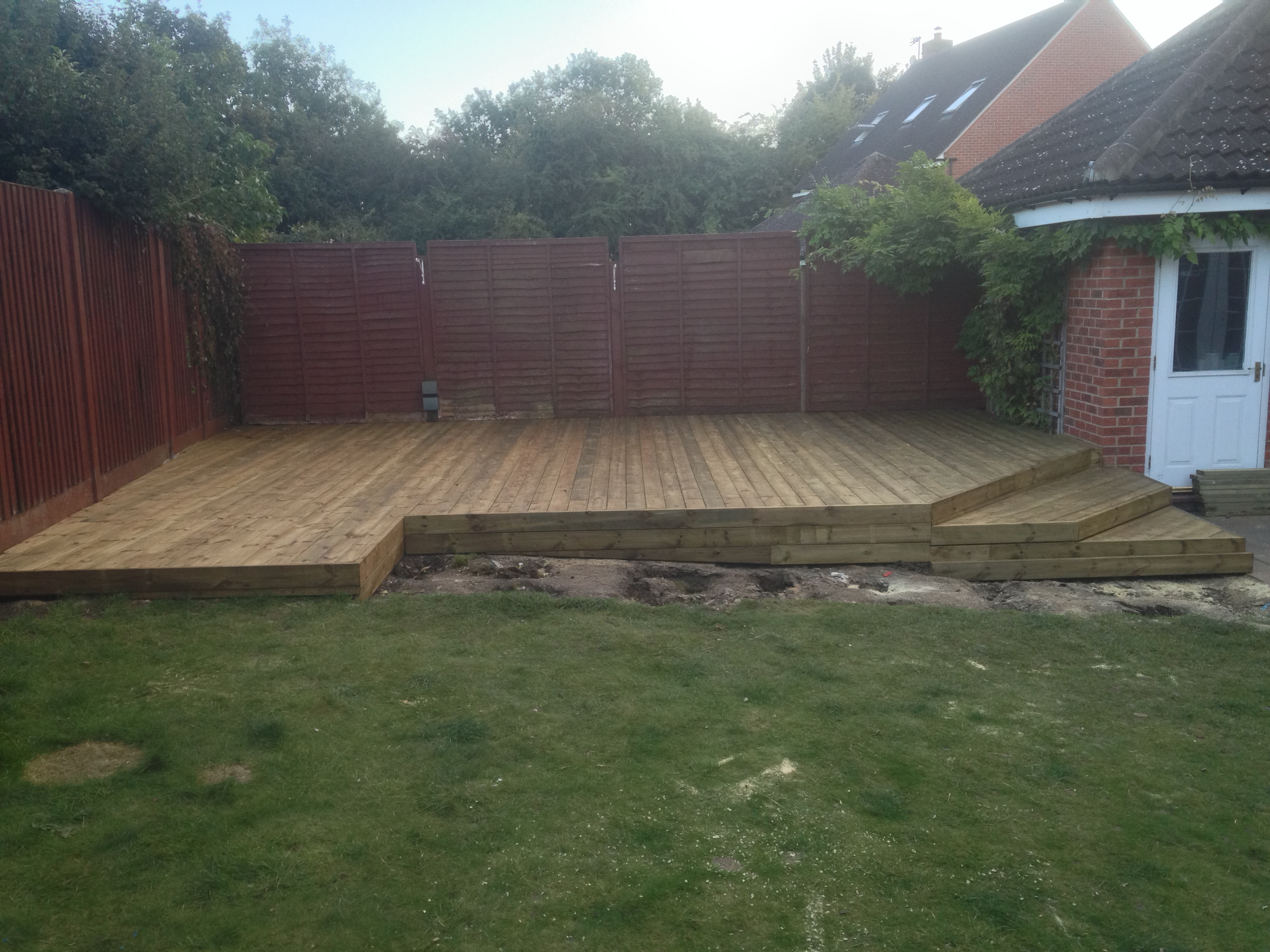 Timber deck in Takeley