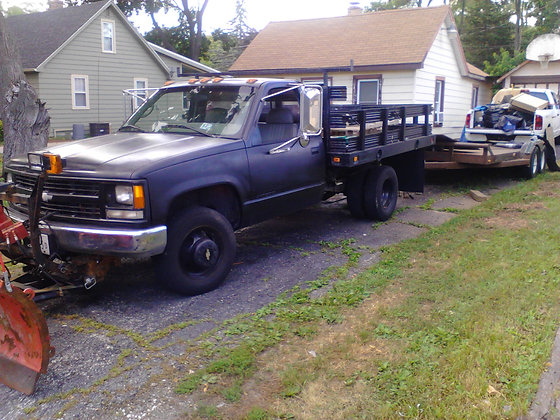 '97 chevy 35oo flatbed 4x2 dually