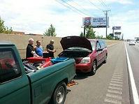 Mobile mechanic nick nave rescuing stranded motorist on I-94,nicholas galdine,nick galdine,nicky galdine,nick galdine II