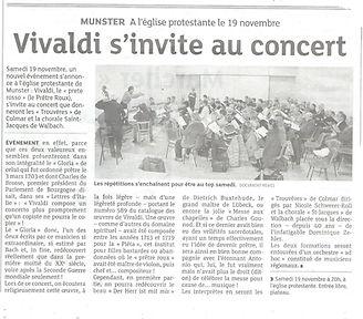 Article de l'Alsace nov 2016