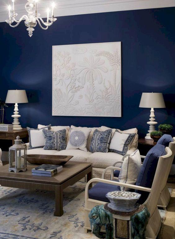 soggiorno blu