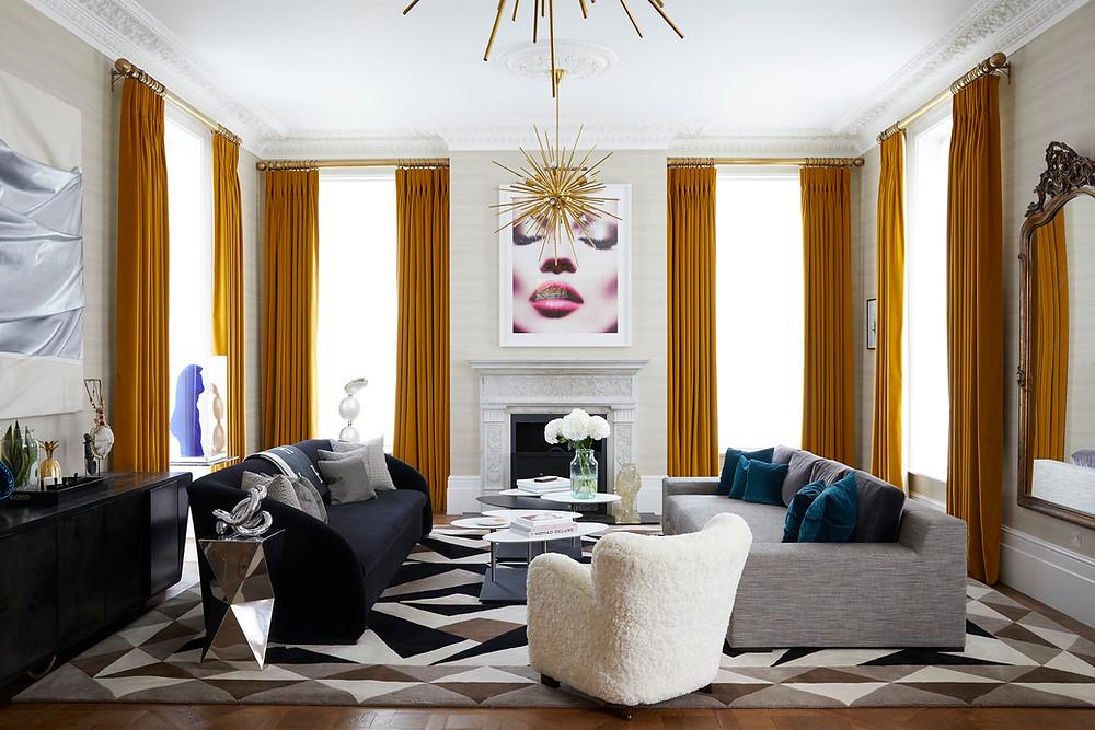 Eclectic livingroom.