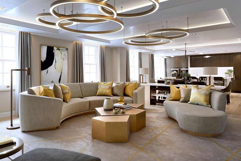 contemporary classic livingroom