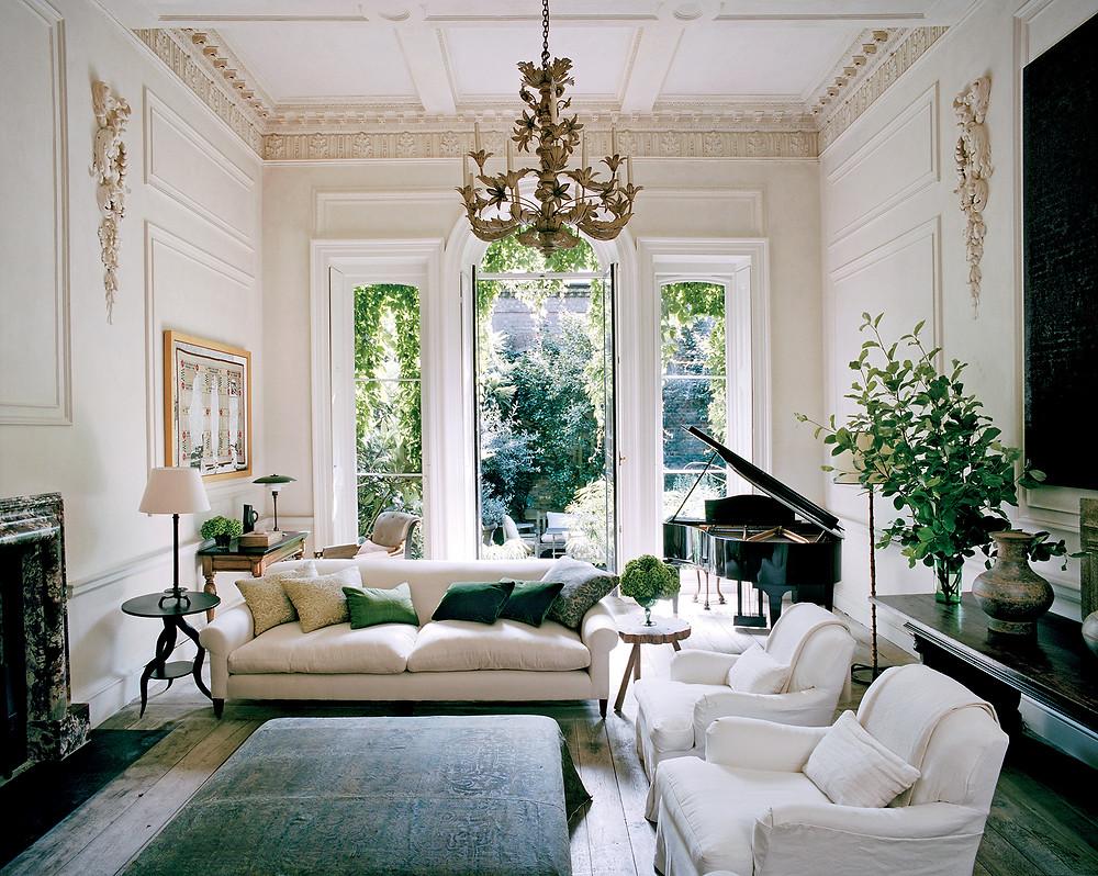 green classic livingroom.