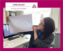 Kim is very passionate about working together as an effective team.