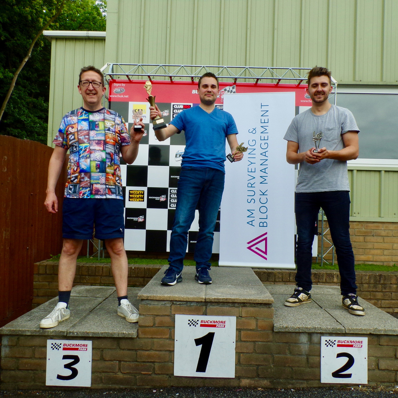 On the Podium:  1st Place: Zak Sladden, Property Manager  2nd Place: Matthew Mackintosh, Head of Block Management  3rd Place: Matthew Grant, Senior Building Surveyor