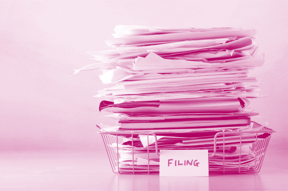 Paperwork requires filing