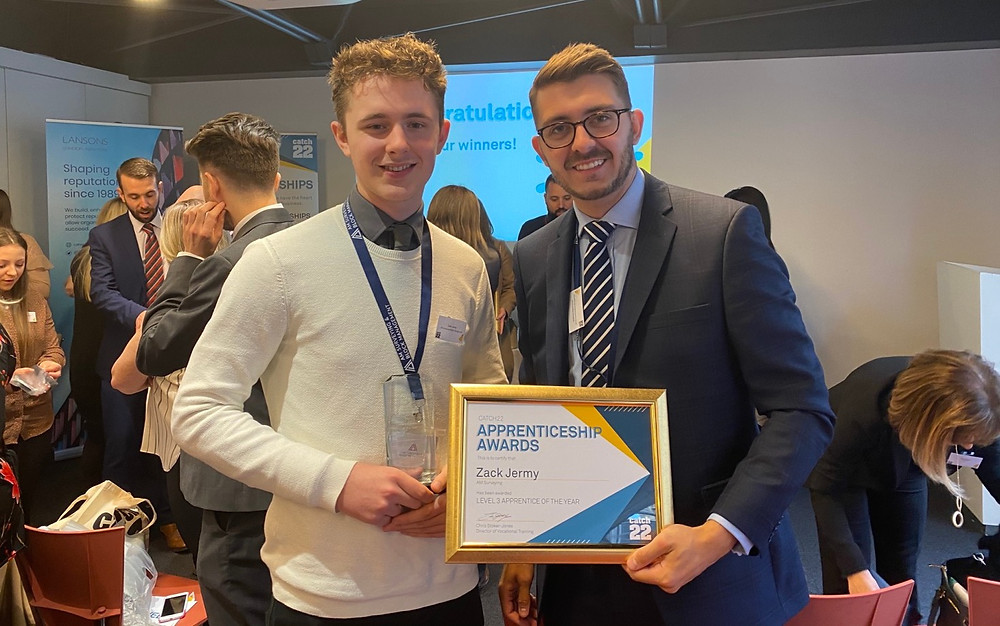 Zack Jermy Property Management Level 3 Apprentice of the Year 2020