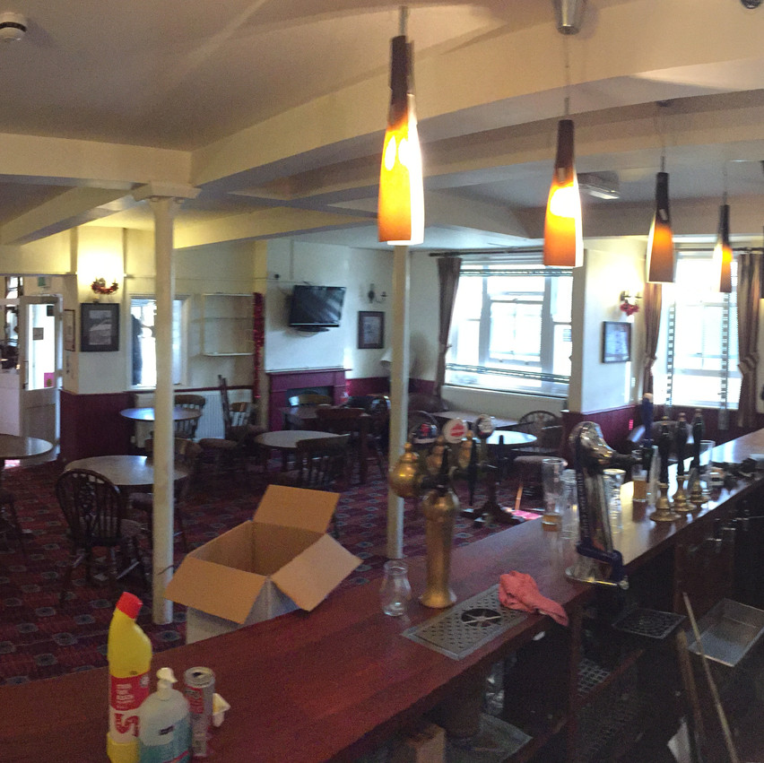 The Kentish Quarryman, view from behind the bar.