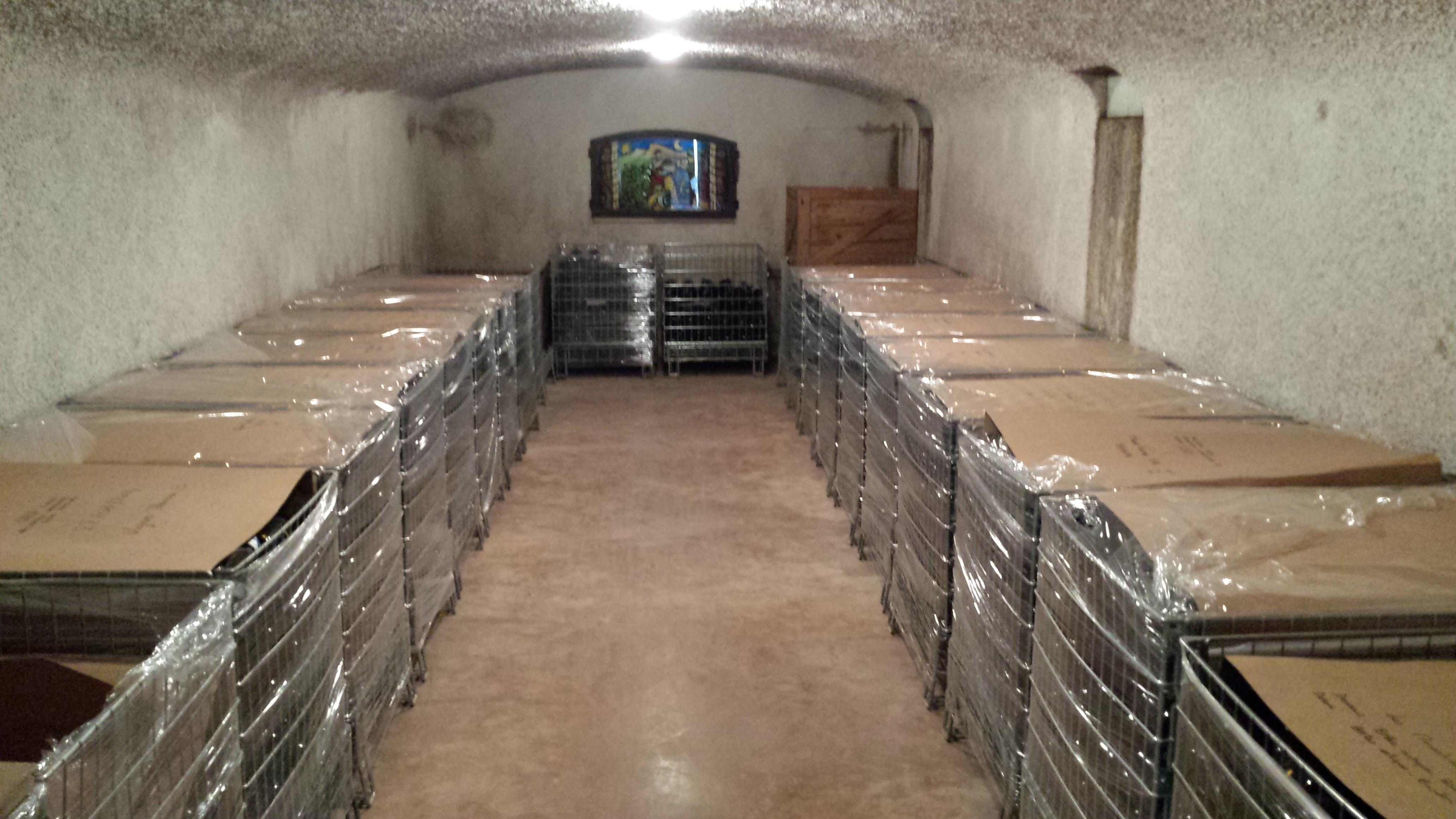Cave voutée stockage bouteilles