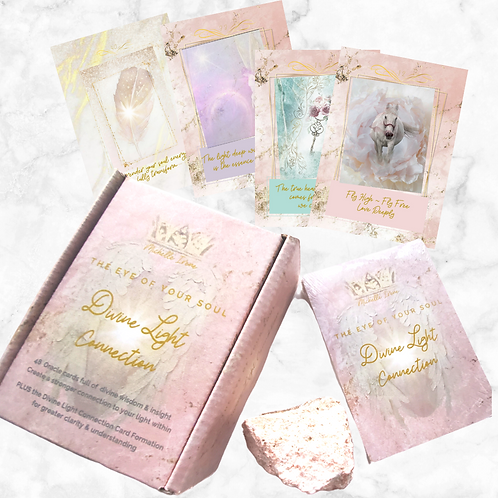 Two Deck OFFER Divine Light Connection Oracle Card Kit