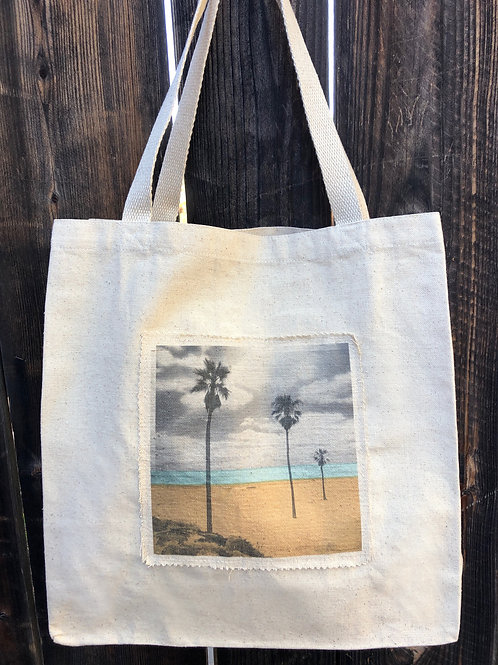 Coastal Canvas Tote - Three Palm Beach